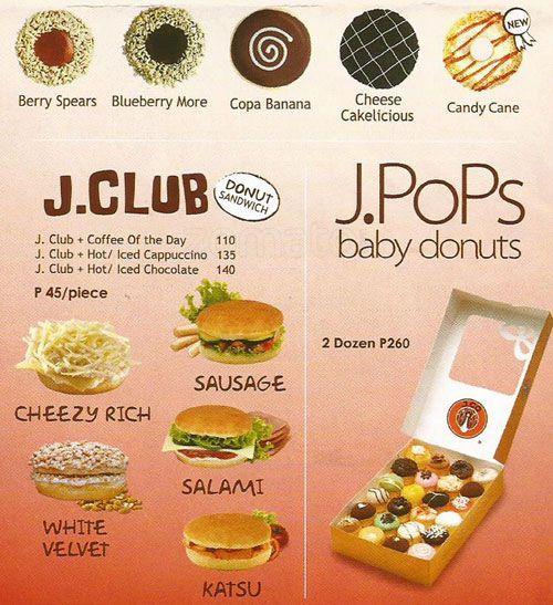 J.CO Donuts & Coffee, SM City North EDSA Menu