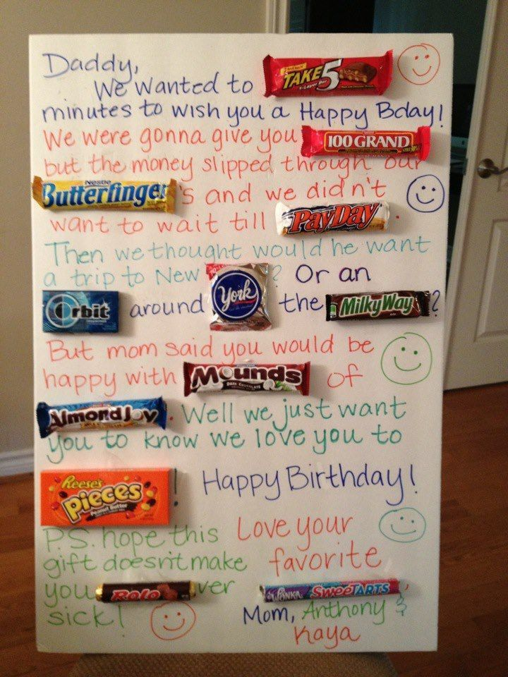 Most Up To Date Totally Free Birthday Ideas For Dad Thoughts Need To Throw Your Youngster A In 2021 Candy Birthday Cards Daddy Birthday Card Birthday Presents For Dad