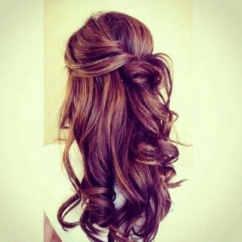 pretty curls and bun, so girly :)