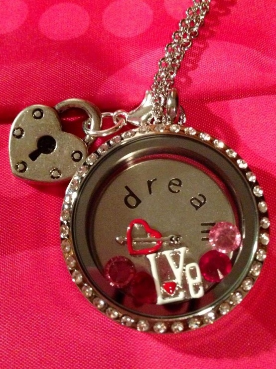 Valentine's Day Locket. Create your own with South Hill Designs Independent Artist Caitlin Followell.