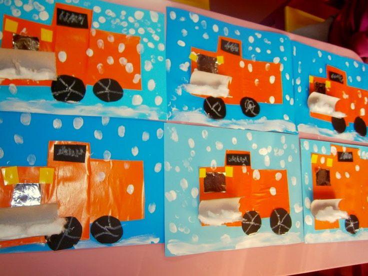 Προσχολική Παρεούλα : Χιόνι !!!! η χαρά των παιδιών ...