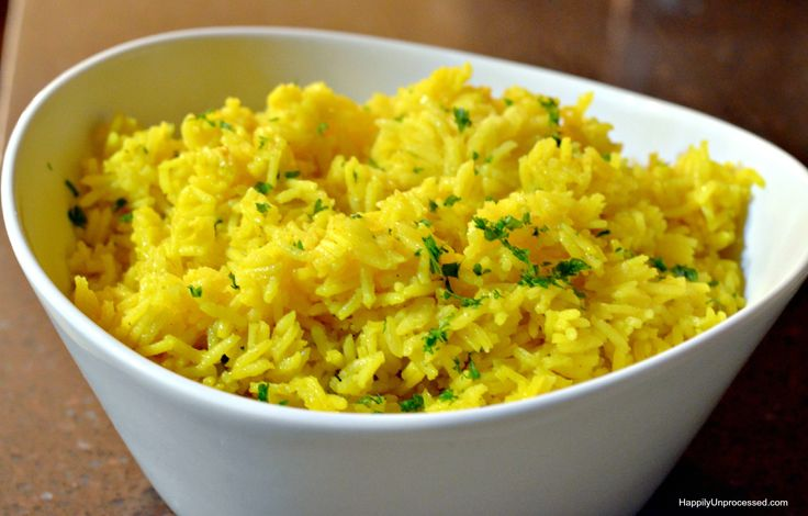 This classic yellow Indian rice is made using one of the most health beneficial spices ever, turmeric, along with cumin and garlic and chicken broth. it is an easy side dish, done in 20 minutes and is fool proof!