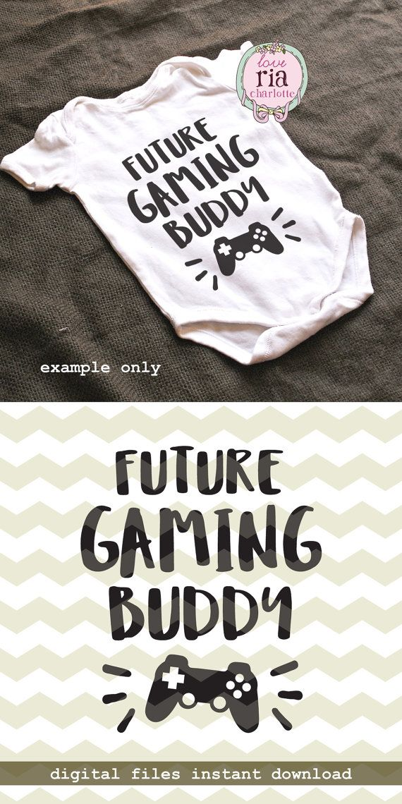 Future game buddy father son video gamer baby by LoveRiaCharlotte