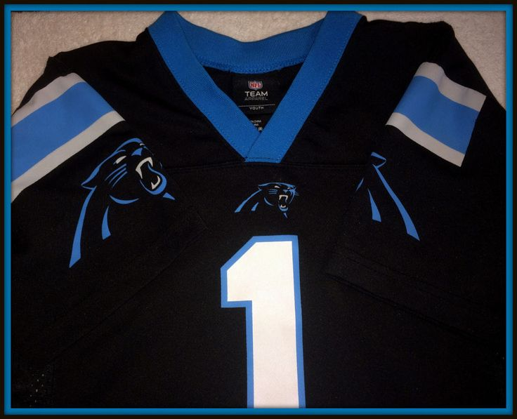 CAROLINA PANTHERS NFL TEAM APPAREL CAM NEWTON REPLICA JERSEY YOUTH SMALL 8 #NFLTEAMAPPAREL #CarolinaPanthers