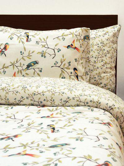 bedding spring birds duvet cover bird motif set