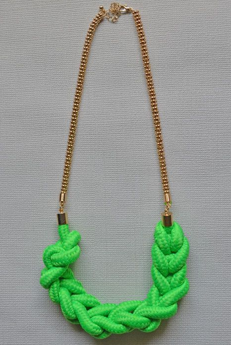 Half Moon Neon Green Necklace $29 available at www.aneva.com.au free shipping Australia wide 27cm in length.