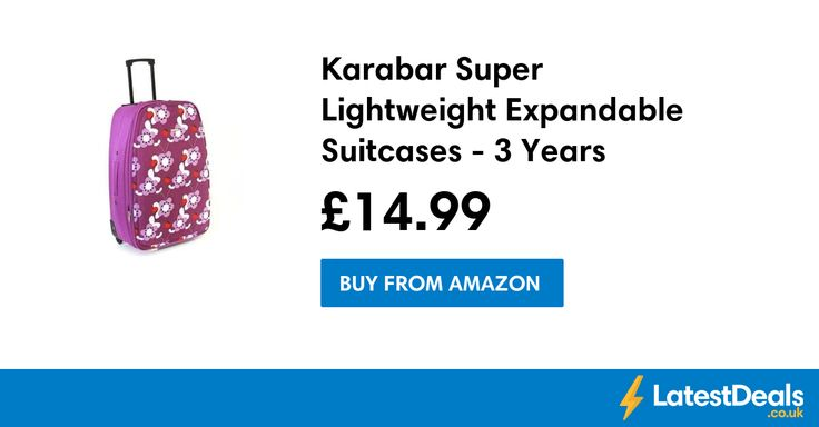Karabar Super Lightweight Expandable Suitcases - 3 Years Warranty!, £14.99 at Amazon