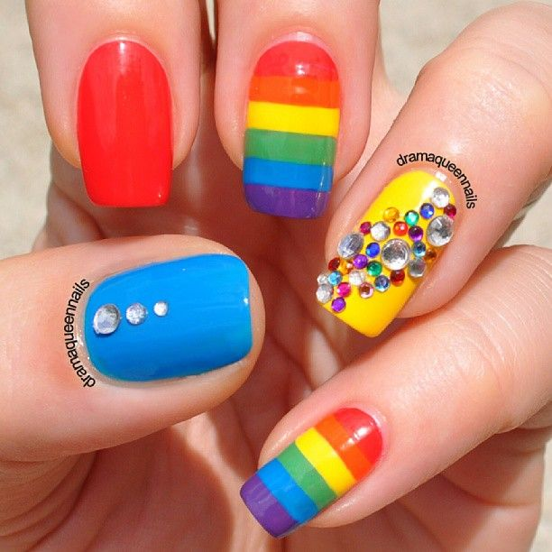 Pride Nail Designs: 30 Best Images About Gay Pride Nails On Pinterest