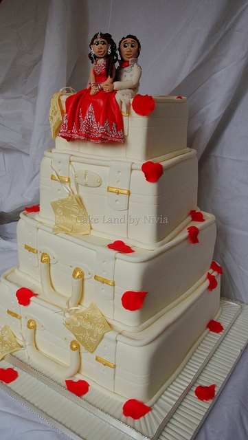 #Suitcase wedding cake  Thanks again for viewing...feel free to Pin, Like, or Comment!