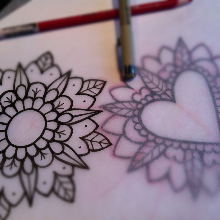 custom Mandala tattoo flash