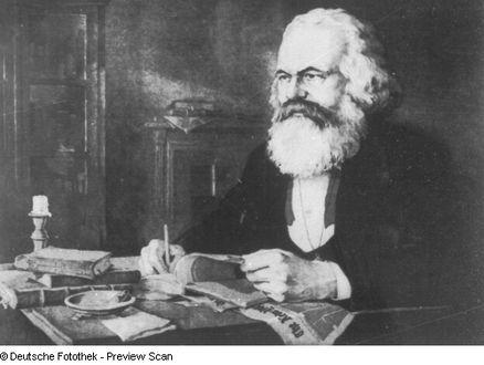 Karl Marx inm Arbeitszimmer (London)
