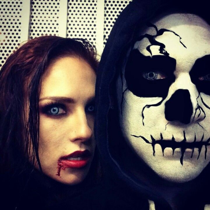 Cool Halloween costume makeup (Sharna Burgess & Paul Kirkland)