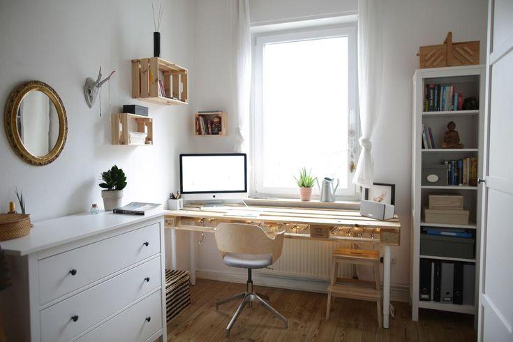 Tolle Idee fürs WG-Zimmer: Schreibtisch zum selbs…