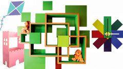 Peças divertidas e móveis coloridos para o quarto das crianças
