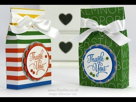 """One Big Meaning, Schoolhouse DSP, 2"""" Circle, 2-1/2"""" Circle & 2-3/8"""" Scallop Circle punches, Silver Glimmer Paper, Whisper White 5/8"""" Satin Ribbon, Brights & Regals Candy Dots - EOS Hand Cream Bag Tutorial"""