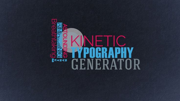 Kinetic Typography Generator Toolkit - After Effects template