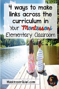 Bring cosmic education in Montessori Elementary classrooms to life. How to link all the different areas of the montessori classroom!