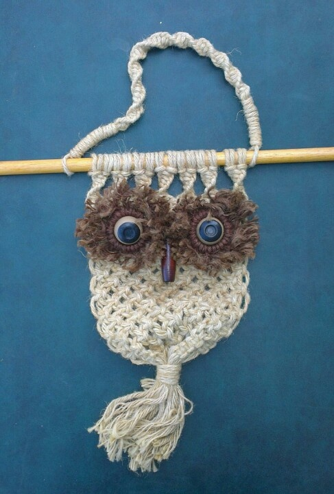 Macrame owl soon to be on stall 234.