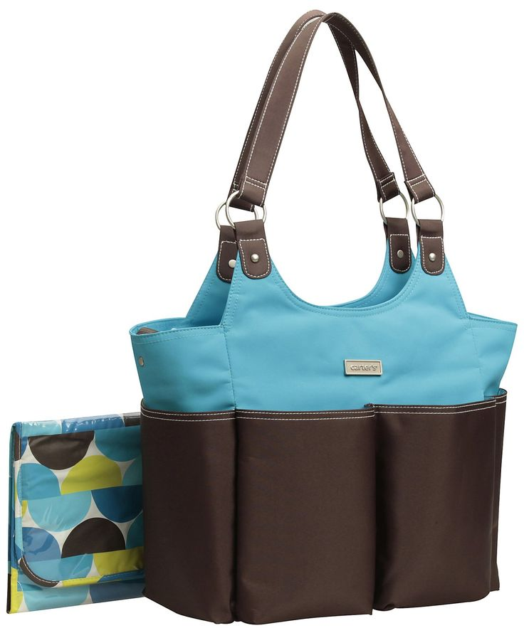 Diaperscomnursery Carter S Everyday Tote Diaper Bag Blue Brown Best Price Boy Bagscarters Baby