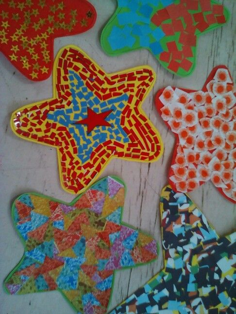 STAR #paper #collage #reusepaper #diy4kids