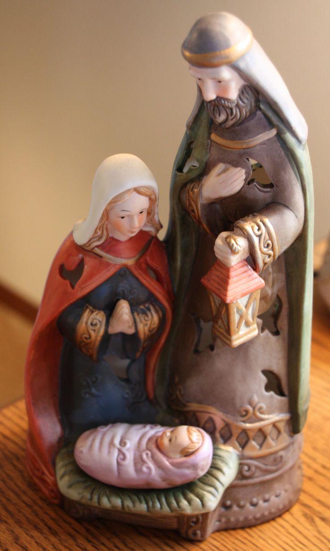 Thomas kinkade o holy night christmas stocking - Holy Family