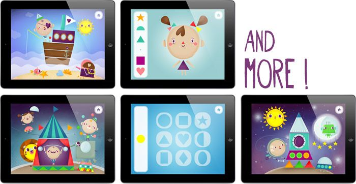 Mr.Fox and shapes - iPad app teaching kids shapes and colors in funny way. Created by Mr.Fox and friends.