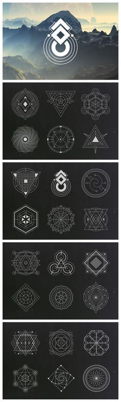 24 Sacred Geometry Vectors…