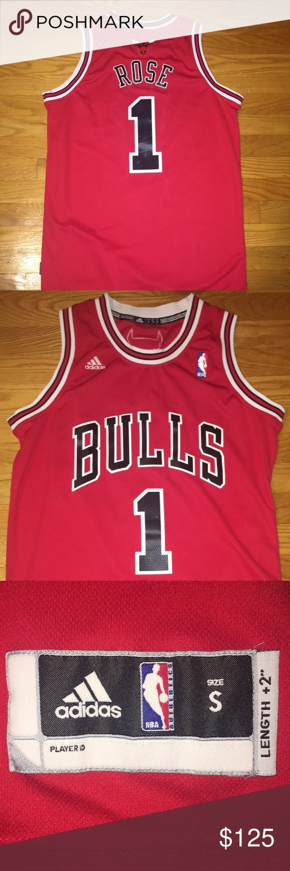 Chicago Bulls Jersey Chicago Bulls Jersey  Rose 1 Size S Never been worn Very good condition adidas Shirts Tank Tops