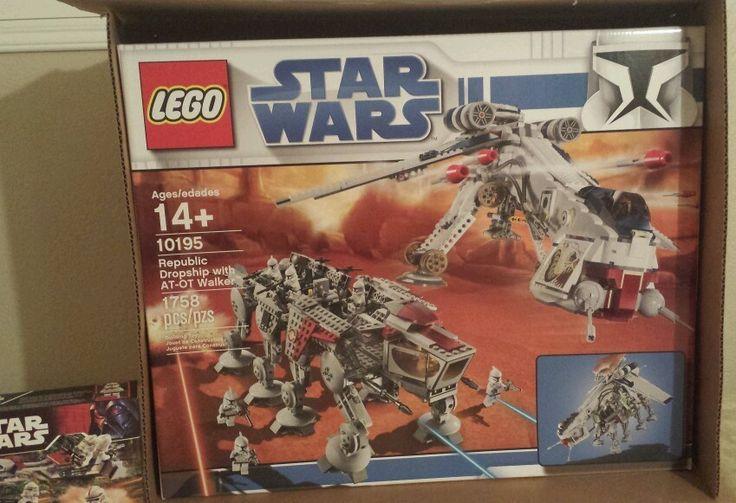 Star Wars Sticker for Lego® 10195 Republic Dropship with AT-OT precut