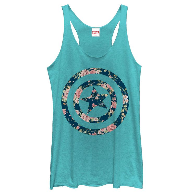 After being #frozen for so many years, #Captain #America can really appreciate the beauty of a rose on the #Marvel Captain America Floral Print Turquoise Racerback #Tank Top. Captain Americas infamous shield is portrayed in a pink #rose floral pattern down...LIKE & SHARE NOW FOR YOUR FRIEND  | YeahTshirt.com