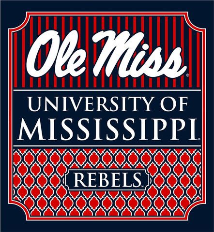 Southern Couture University of Mississippi Ole Miss Rebels Classic Preppy Girlie Bright T Shirt Available in sizes- S,M,L,XL,2X,3X