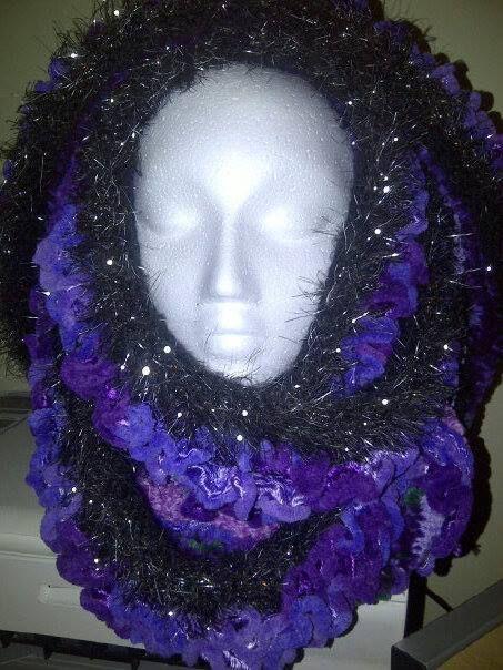 Purple cowl front