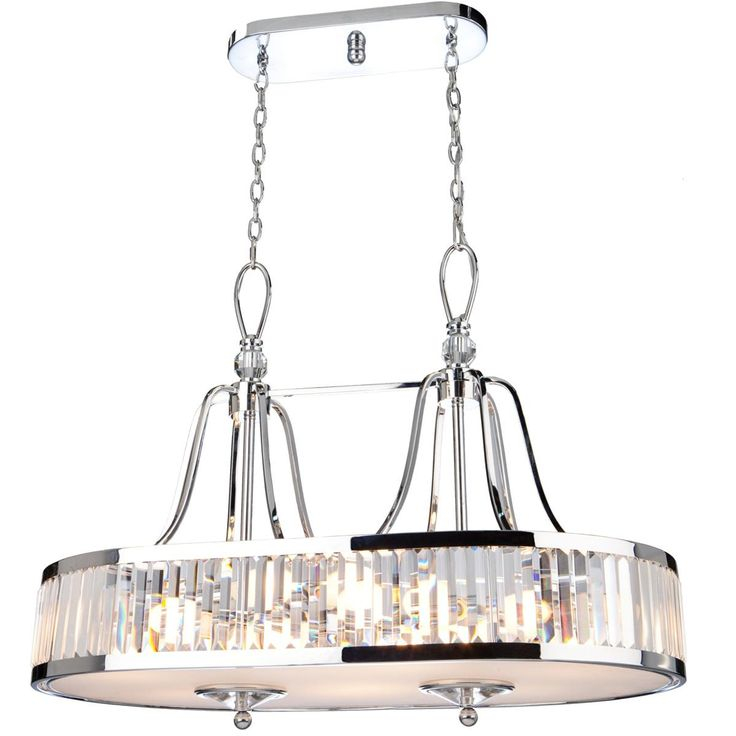 Classic Crystal Prism Island Chandelier