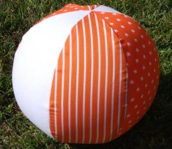 Orange Stars Fabric Balloon Balls