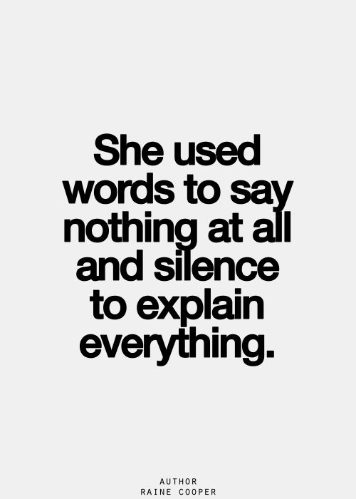 Words, silence, quote