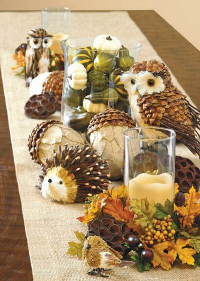 Add some festive fall accents to you table with this simple DIY project. | home decor | holiday decorations