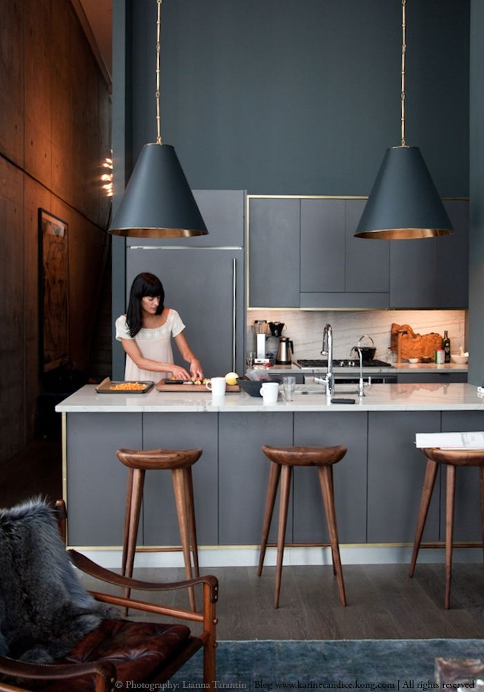 Decorating with black & copper pendant lights