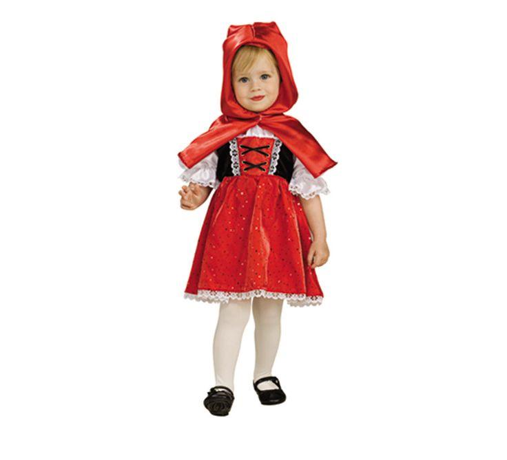Disfraz de Caperucita Roja para niñas de 1 a 2 años