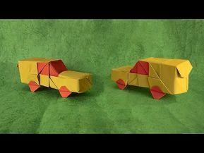 Mari Kita Buat Origami Mobil Berbeda Dengan Model Mobil Sebelumnya Yang Sederhana Dan Datar 2d Origami Mobil Kali Ini 3d Origami Crafts Origami Car Origami