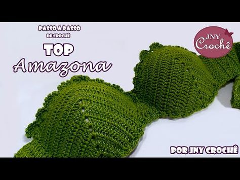 Nesta aula você vai aprender o passo a passo do top ou biquíni de crochê Amazona que é muito atraente, selvagem e encantador ao mesmo tempo e, além disso, mu...