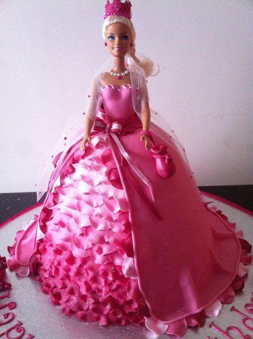 Best Cakes Barbie Images On Pinterest Barbie Cake Barbie - Birthday cake doll princess
