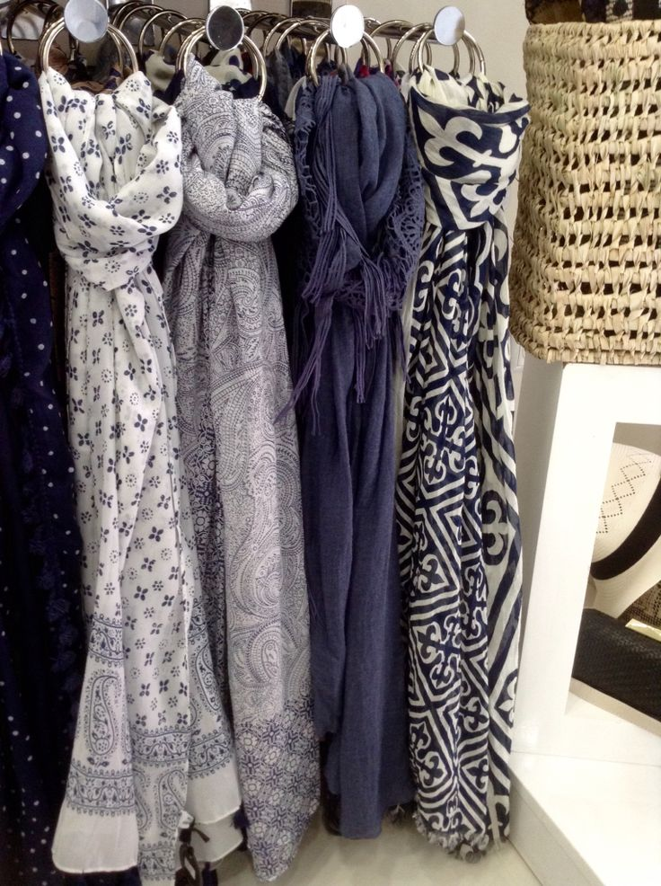 Blue scarves by Miss Accessories  #scarves #blue #white #summerstyle  #summer #basket #greece  #karditsa
