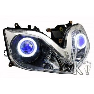 Honda CBR600F4 Custom Headlight Assembly, Honda CBR600F4 Angel eye Headlight Assembly, Honda CBR600F4 Halo eye Headlight Assembly ,Honda CBR600F4i Custom Headlight Assembly, Honda CBR600F4i Angel eye Headlight Assembly, Honda CBR600F4i Halo eye Headlight