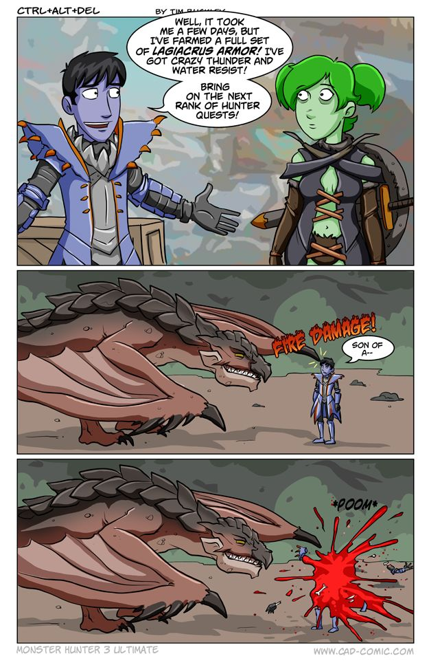 Ctrl + Alt + Del comic on Monster Hunter