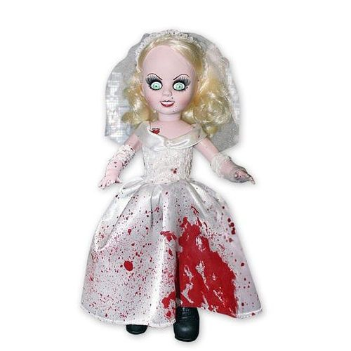 Living Dead Dolls Bride of Chucky Puppe Tiffany - Blutiges Brautkleid
