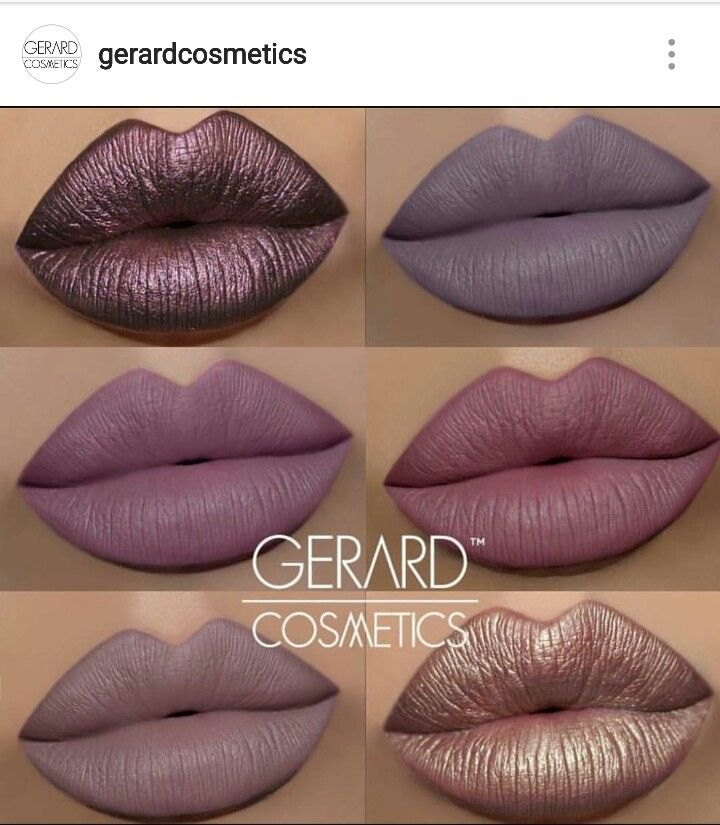 Gerard cosmetics hydra matte and metal matte lipstick swatches