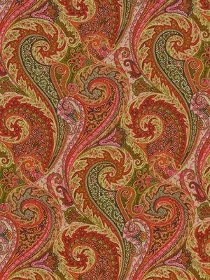 Paisley Upholstery Fabric Orange Modern by greenapplefabrics, $59.00