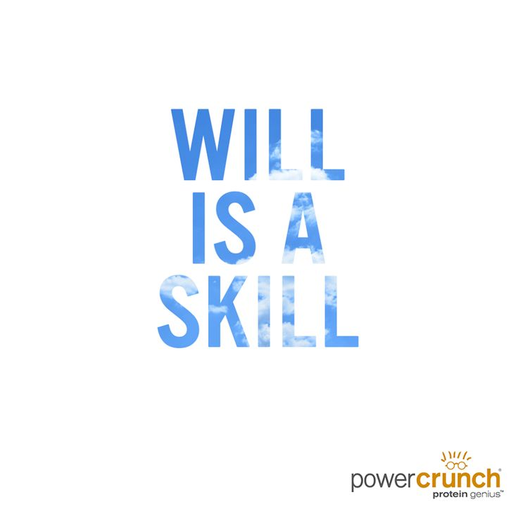 Willpower is a muscle. The more you use it, the stronger it gets!