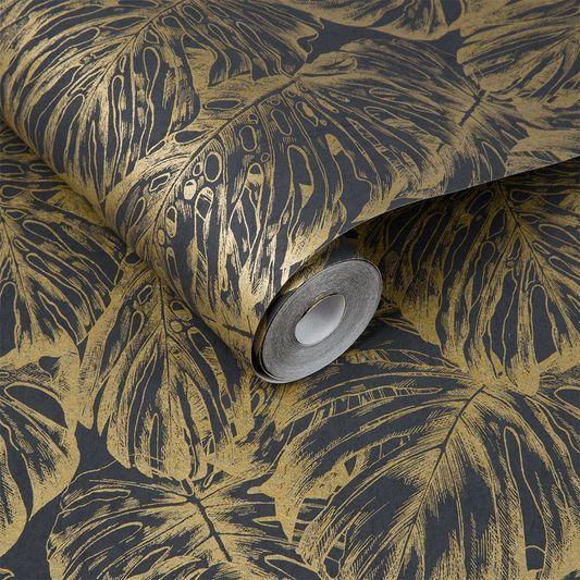 Tropical Charcoal Wallpaper | Graham & Brown UK