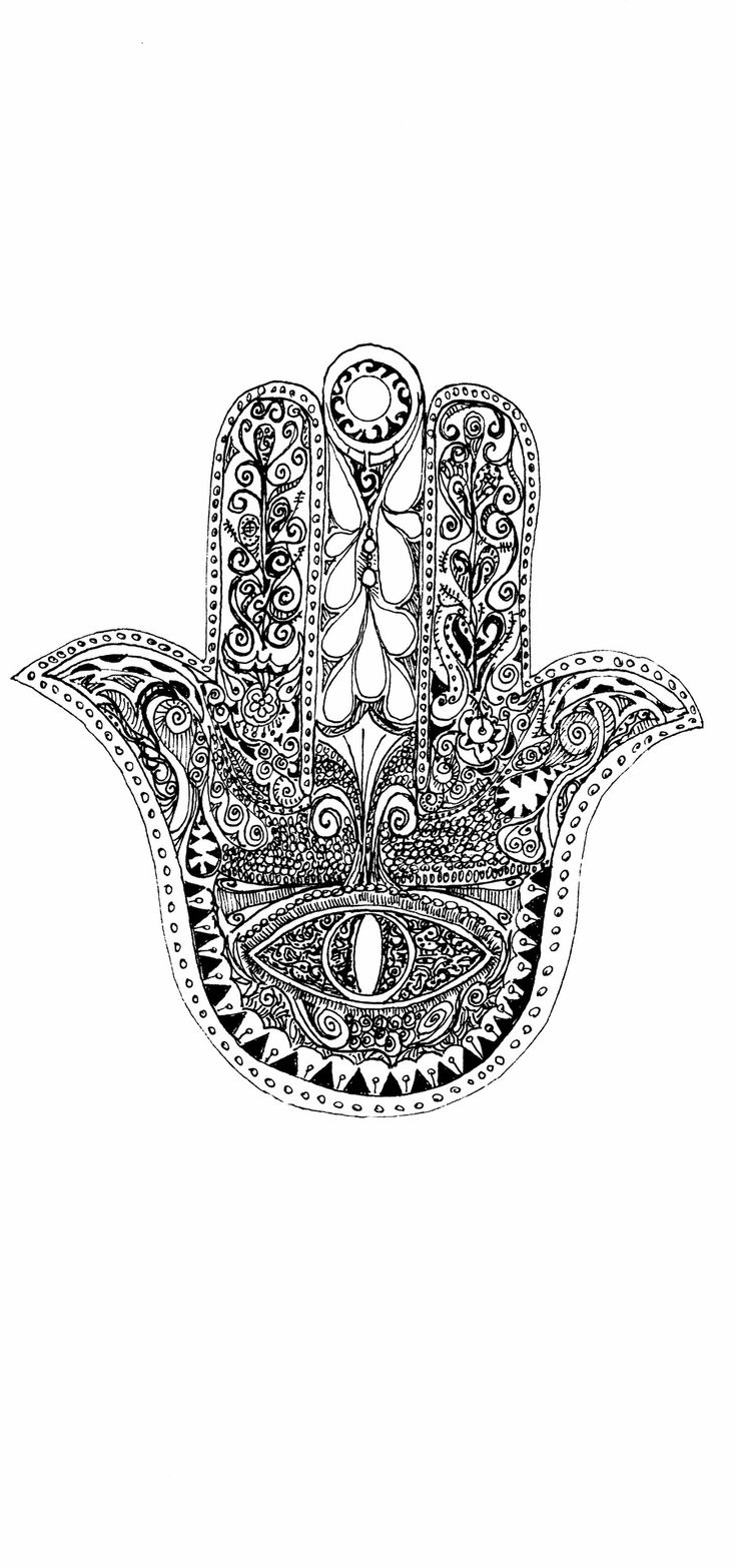 avirginsbeauty:   Hamsa        -a quick sketch while I work on a more sophisticated version Sign of protection in many societies throughout history, the symbol predates Christianity and Islam. In Islam, it is also known as the hand of Fatima,  Christians call it the hand of Mary and Jews refer to it as the hand of Miriam. Black Ink on Card Stock If you liked this check out some of my other pieces   tone-art.tumblr.com